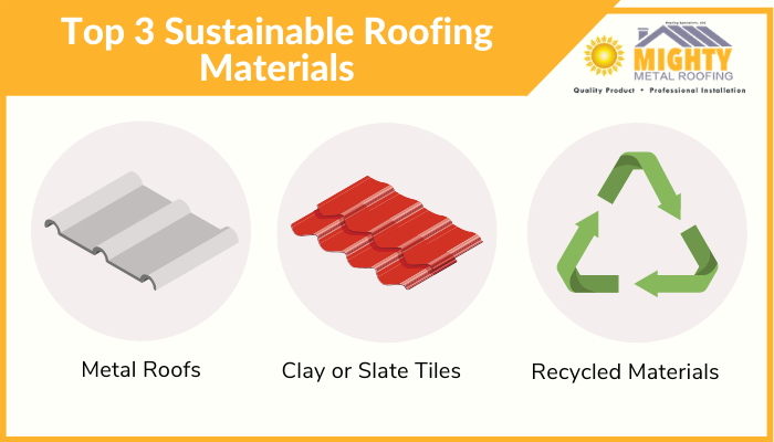 top 3 sustainable roofing materials