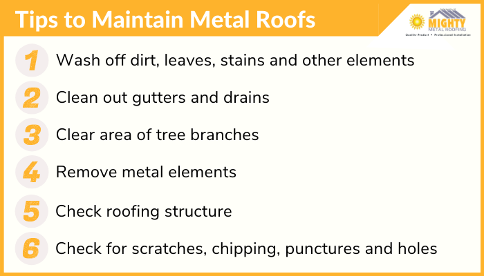 Metal Roof Maintenance tips